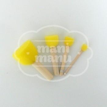 Kit pinceles de gomaespuma para estarcir