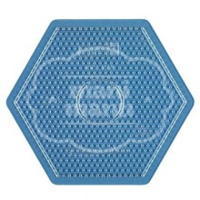 Placa base / Pegboard MIDI Hexagonal grande transparente