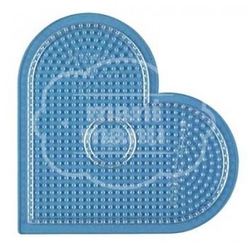 Placa base / Pegboard MIDI Corazón grande transparente