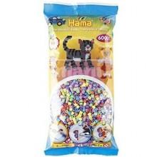 HAMA MIDI Mix 50 (6 colores pastel) 6000 piezas