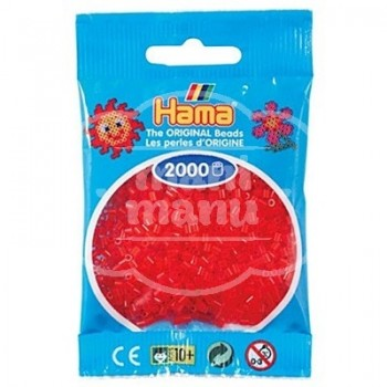 HAMA MINI Rojo Translúcido 2000 piezas