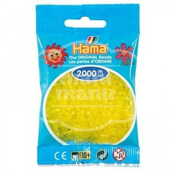 HAMA MINI Amarillo Translúcido 2000 piezas