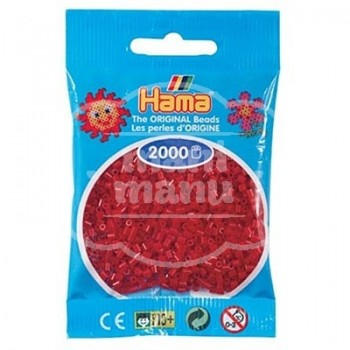 HAMA MINI 22 Rojo Oscuro (Navidad) 2000 piezas