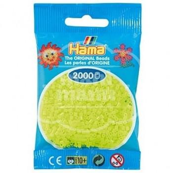 HAMA MINI Amarillo Fluorescente 2000 piezas
