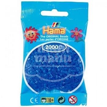 HAMA MINI Azul Fluorescente 2000 piezas