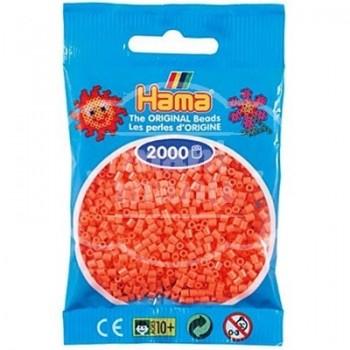 HAMA MINI 44 Rojo Pastel / Salmón 2000 piezas