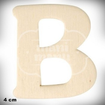 Letra B en Madera de 4 cm