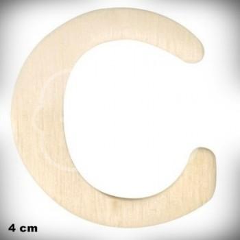 Letra C en Madera de 4 cm