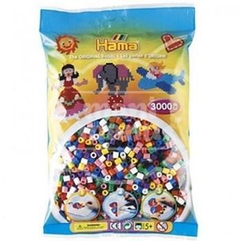 HAMA MIDI Mix 00 (10 colores) 3000 piezas