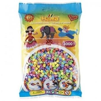 HAMA MIDI Mix 50 (6 colores pastel) 3000 piezas