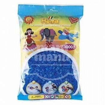 HAMA MIDI 15 Azul Translúcido 3000 piezas