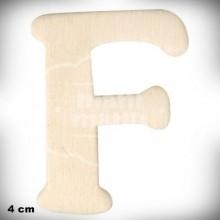 Letra F en Madera de 4 cm