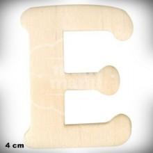 Letra E en Madera de 4 cm