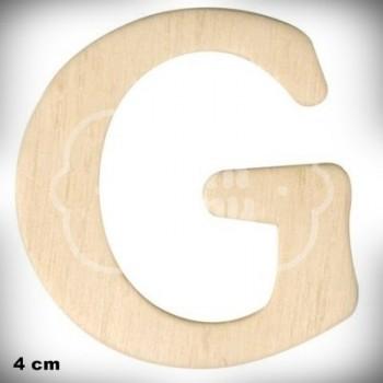 Letra G en Madera de 4 cm
