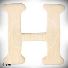 Letra H en Madera de 4 cm
