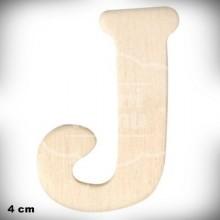 Letra J en Madera de 4 cm
