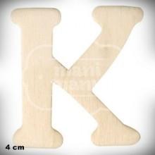 Letra K en Madera de 4 cm