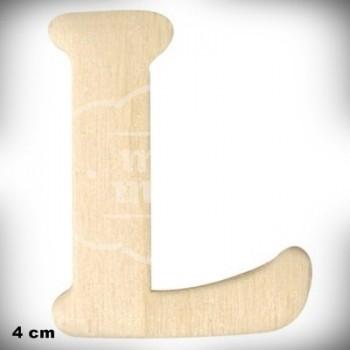 Letra L en Madera de 4 cm