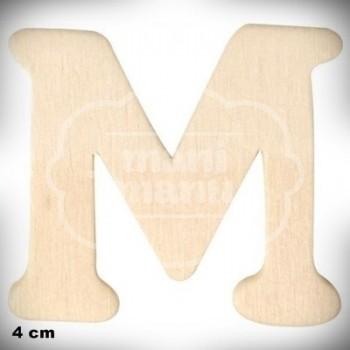Letra M en Madera de 4 cm