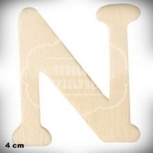 Letra N en Madera de 4 cm