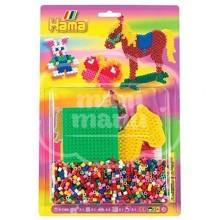 Blister 1100 beads Caballo, Conejo, Mariposa