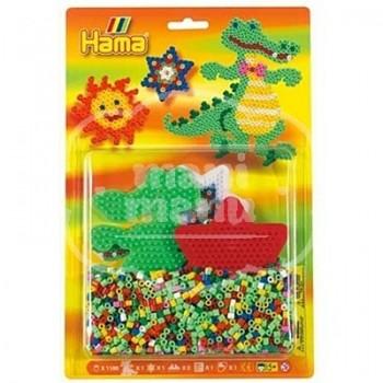 Blister 1100 beads Cocodrilo y estrella