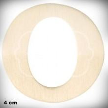Letra O en Madera de 4 cm