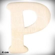 Letra P en Madera de 4 cm