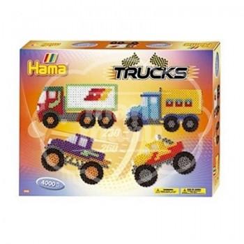 """Caja regalo 4000 beads midi """"Camiones"""""""