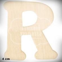 Letra R en Madera de 4 cm