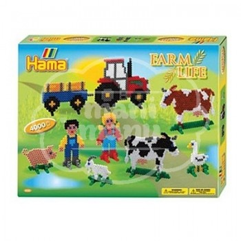 "Caja regalo 4000 beads midi ""Granja"" (Farm Life)"