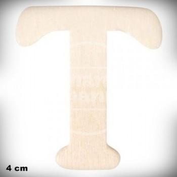 Letra T en Madera de 4 cm