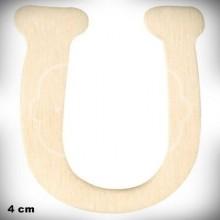 Letra U en Madera de 4 cm