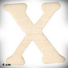 Letra X en Madera de 4 cm