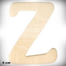 Letra Z en Madera de 4 cm