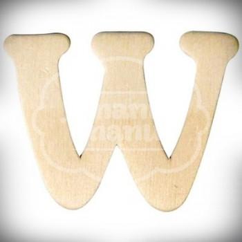 Letra W en Madera de 4 cm