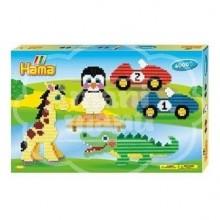 "Caja regalo 6000 beads hama midi ""Animales y coches"""