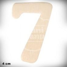Número 7 en Madera de 4 cm