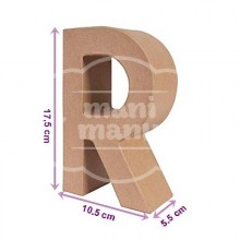 """Letra """"R"""" de Papel Maché"""