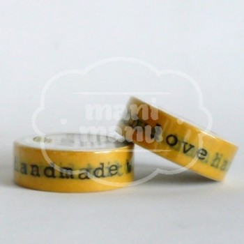 "Washi tape ""love handmade with"""