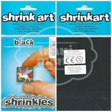Plástico Mágico SHRINKLES 6 láminas de 13,1x10,1 cm Negro