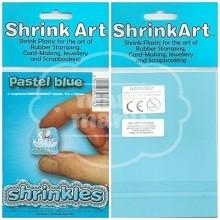 Plástico Mágico SHRINKLES 6 láminas de 13,1x10,1 cm Azul Pastel