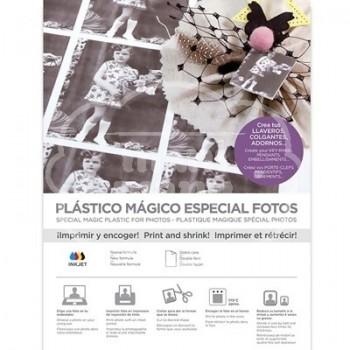 Plástico Mágico ESPECIAL FOTOS INKJET doble cara 3 láminas A4
