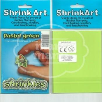 Plástico Mágico SHRINKLES 6 láminas de 13,1x10,1 cm Verde Pastel