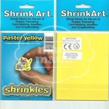 Plástico Mágico SHRINKLES 6 láminas de 13,1x10,1 cm Amarillo Pastel