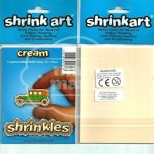 Plástico Mágico SHRINKLES 6 láminas de 13,1x10,1 cm  Crema