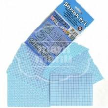 Plástico Mágico SHRINKART 6 láminas estampadas de 13,1x10,1 cm Azul Pastel Blue