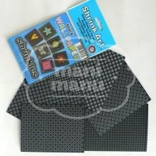 Plástico Mágico SHRINKLES 6 láminas estampadas de 13,1x10,1 cm Negro