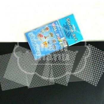 Plástico Mágico SHRINKART 6 láminas estampadas de 13,1x10,1 cm Transparente