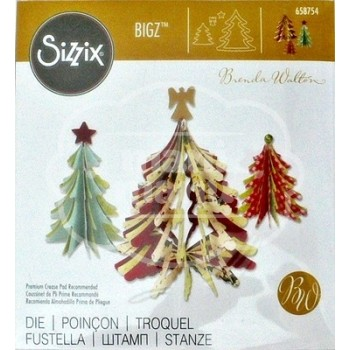 Troquel BIGZ Christmas trees 3D by Brenda Walton